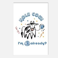 """""""Holy Cow! I'm 3 already?"""" Postcards (Package of 8"""