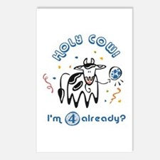 """""""Holy Cow! I'm 4 already?"""" Postcards (Package of 8"""