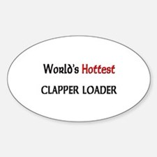 World's Hottest Clapper Loader Oval Decal