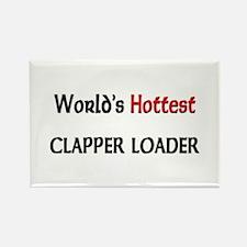 World's Hottest Clapper Loader Rectangle Magnet