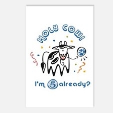 """""""Holy Cow! I'm 5 already?"""" Postcards (Package of 8"""