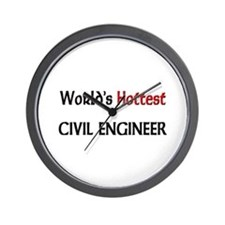 World's Hottest Civil Engineer Wall Clock