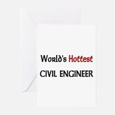 World's Hottest Civil Engineer Greeting Cards (Pk