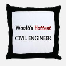 World's Hottest Civil Engineer Throw Pillow