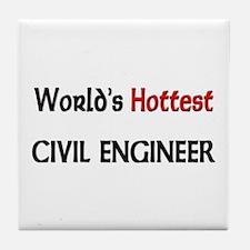 World's Hottest Civil Engineer Tile Coaster