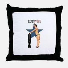 Sexy EOD WIFE Throw Pillow