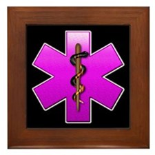 Star of Life(pink) Framed Tile