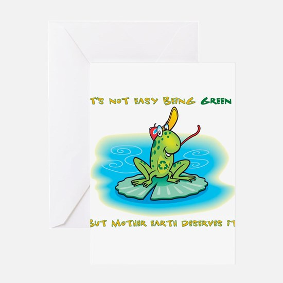 Not Easy Being Green Greeting Card