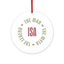 Isa Finnish Dad Man Myth Ornament (Round)