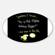 Frisbee Oval Decal