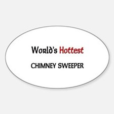 World's Hottest Chimney Sweeper Oval Decal