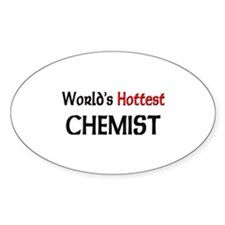 World's Hottest Chemist Oval Decal