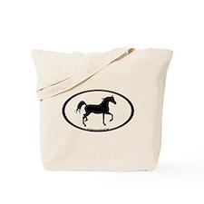 Arabian Horse Oval Tote Bag