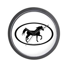 Arabian Horse Oval Wall Clock