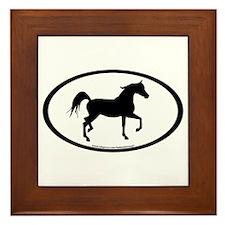 Arabian Horse Oval Framed Tile