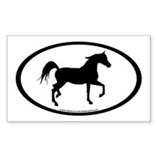 Arabian Horse Oval Rectangle Decal