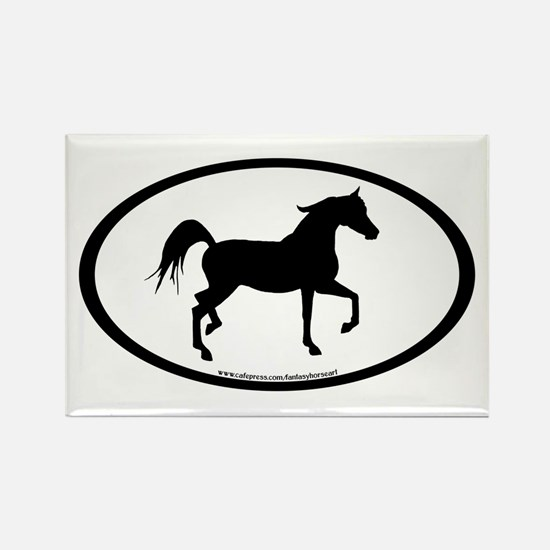 Arabian Horse Oval Rectangle Magnet