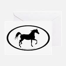 Arabian Horse Oval Greeting Card