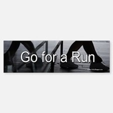 Go for a Run bumper sticker.