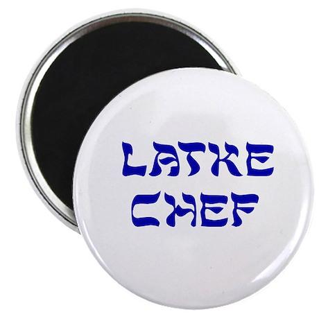 """Latke Chef 2.25"""" Magnet (10 pack)"""