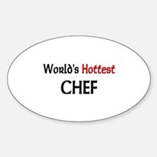 World's Hottest Chef Oval Decal