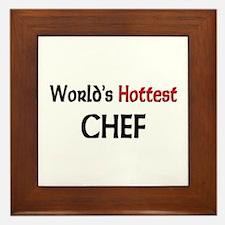World's Hottest Chef Framed Tile