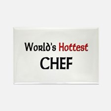 World's Hottest Chef Rectangle Magnet