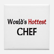 World's Hottest Chef Tile Coaster