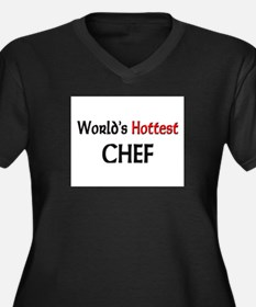 World's Hottest Chef Women's Plus Size V-Neck Dark