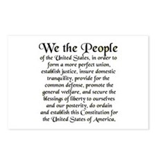 We the People US Postcards (Package of 8)