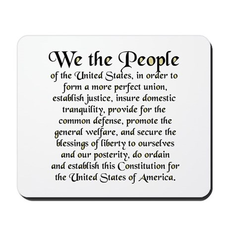 We the People US Mousepad