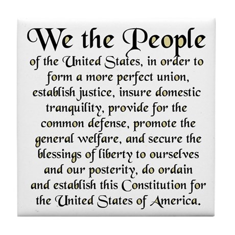 We the People US Tile Coaster