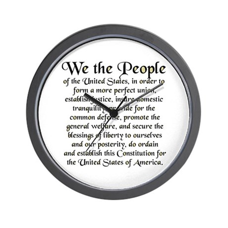 We the People US Wall Clock