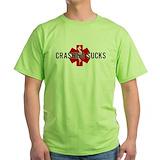 Dirt bike crash Green T-Shirt