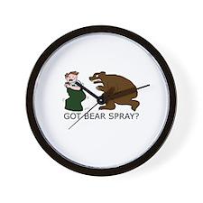 Funny Camping Bear Wall Clock