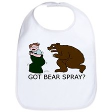 Funny Camping Bear Bib