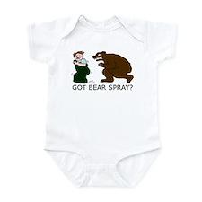 Funny Camping Bear Infant Bodysuit