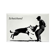 SCHUTZHUND,German Shepherd Rectangle Magnet