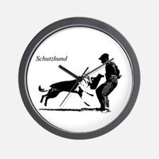 SCHUTZHUND,German Shepherd Wall Clock