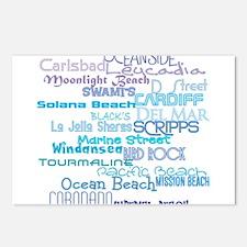 Cute Ocean girl Postcards (Package of 8)