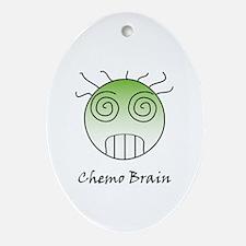Chemo Brain Oval Ornament