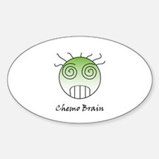 Chemo Brain Oval Decal