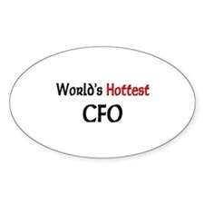World's Hottest Cfo Oval Decal