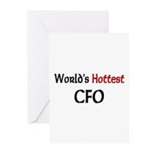 World's Hottest Cfo Greeting Cards (Pk of 10)