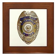 Riverside Police Framed Tile