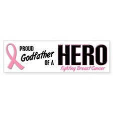 Proud Godfather Of A Hero 1 (BC) Bumper Bumper Sticker