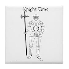 Cute Renaissance medievil joke goggles knights Tile Coaster