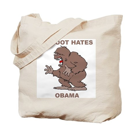 Bigfoot Hates Obama Tote Bag