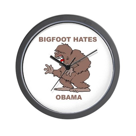 Bigfoot Hates Obama Wall Clock