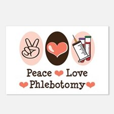 Peace Love Phlebotomy Postcards (Package of 8)